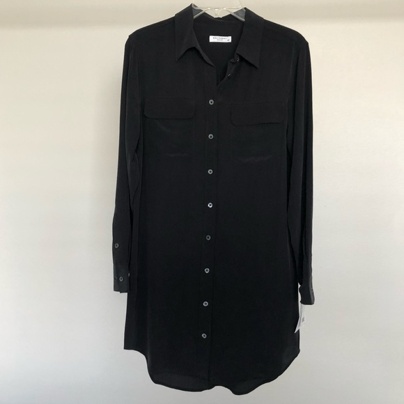 Equipment Dresses & Skirts - NWT Equipment Black Slim Signature Dress Sz S